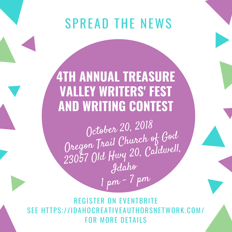 FB 4th Annual Treasure Valley Writers' Fest and Writing Contest